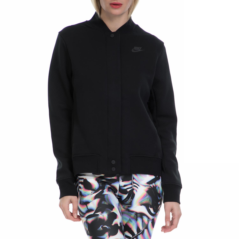 NIKE - Γυναικείο μπουφάν ΝΙΚΕ NSW TCH FLC DSTRYR JKT μαύρο γυναικεία ρούχα πανωφόρια μπουφάν
