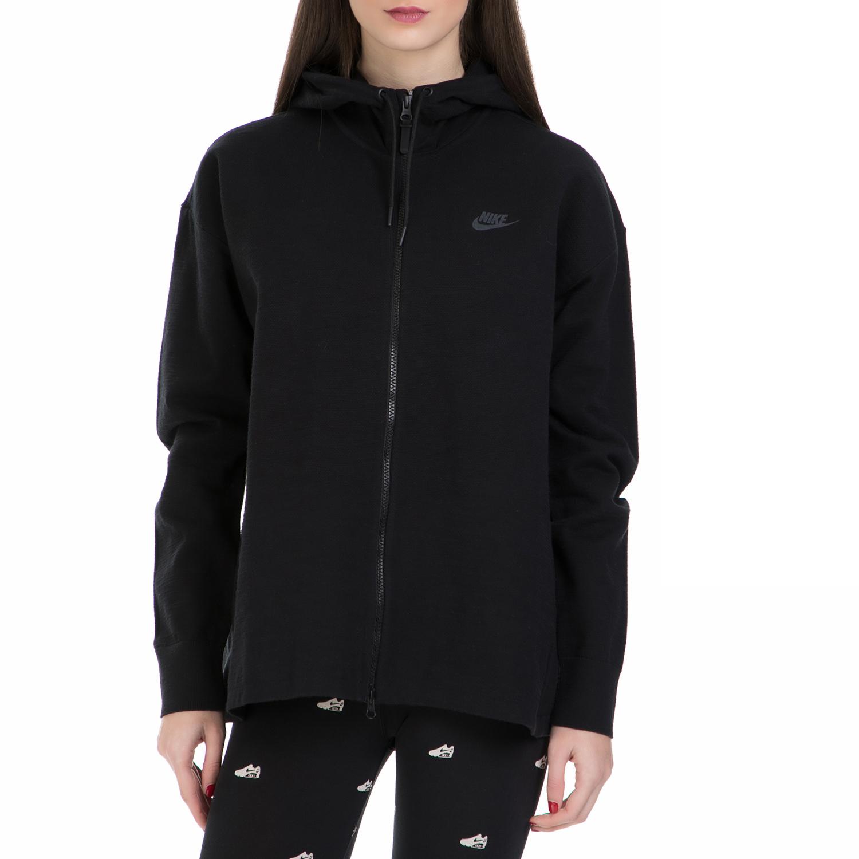 NIKE - Γυναικεία ζακέτα Nike Sportswear Tech μαύρη γυναικεία ρούχα αθλητικά φούτερ μακρυμάνικα