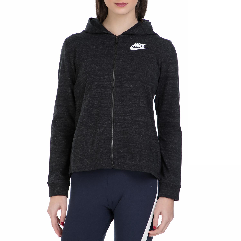 NIKE - Γυναικεία ζακέτα Nike Sportswear Advance 15 μαύρη γυναικεία ρούχα αθλητικά φούτερ μακρυμάνικα