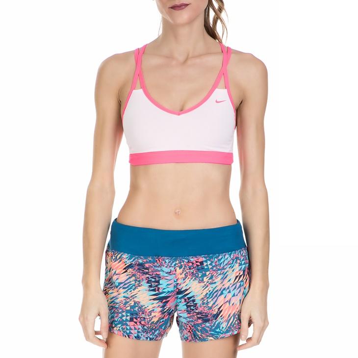 Γυναικείο αθλητικό μπουστάκι Nike PRO INDY STRAPPY άσπρο - ροζ ... c2263118527