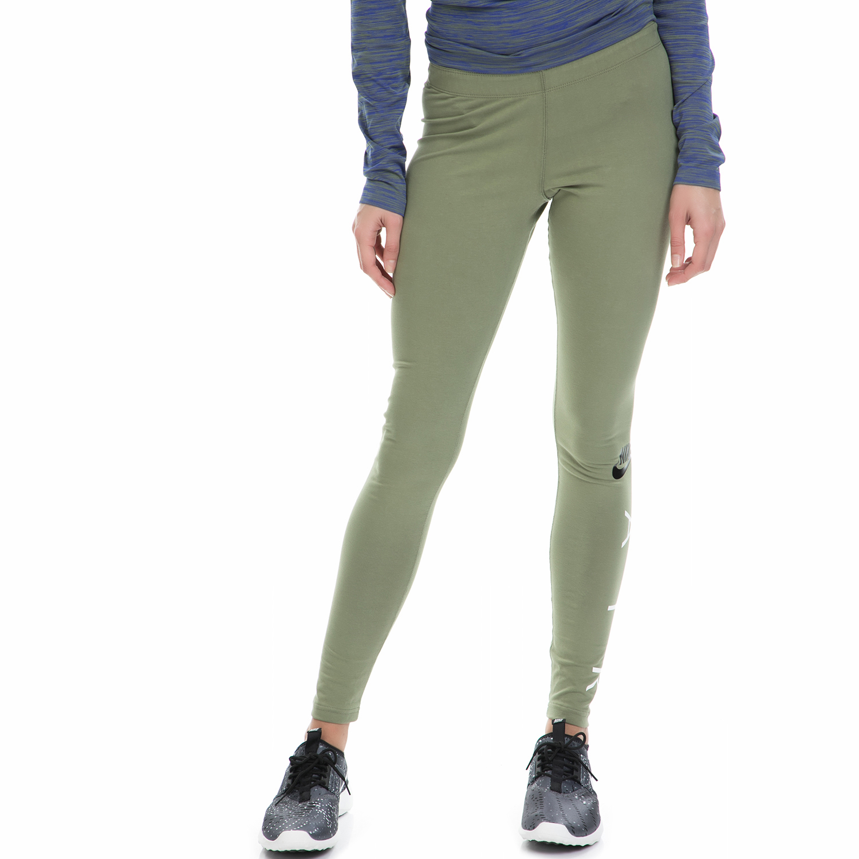 NIKE - Γυναικείο αθλητικό κολάν ΝΙΚΕ NSW LGGNG AIR χακί γυναικεία ρούχα αθλητικά κολάν