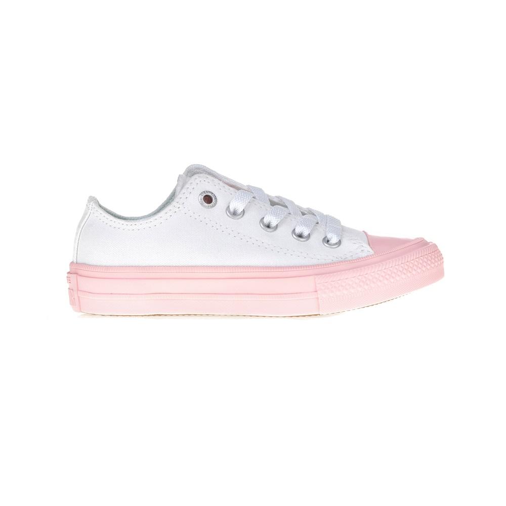 CONVERSE - Παιδικά παπούτσια Chuck Taylor All Star II Ox άσπρα-ροζ παιδικά girls παπούτσια sneakers