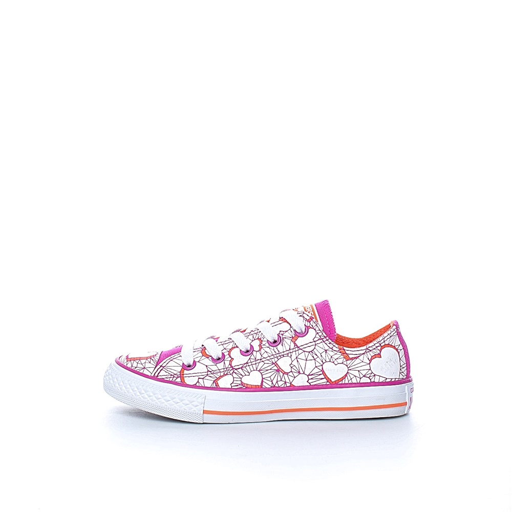 CONVERSE – Παιδικά sneakers CONVERSE Chuck Taylor All Star Ox ροζ-λευκά
