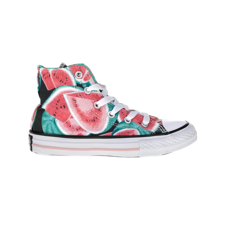 CONVERSE – Παιδικά παπούτσια Chuck Taylor All Star Hi κόκκινα-πράσινα
