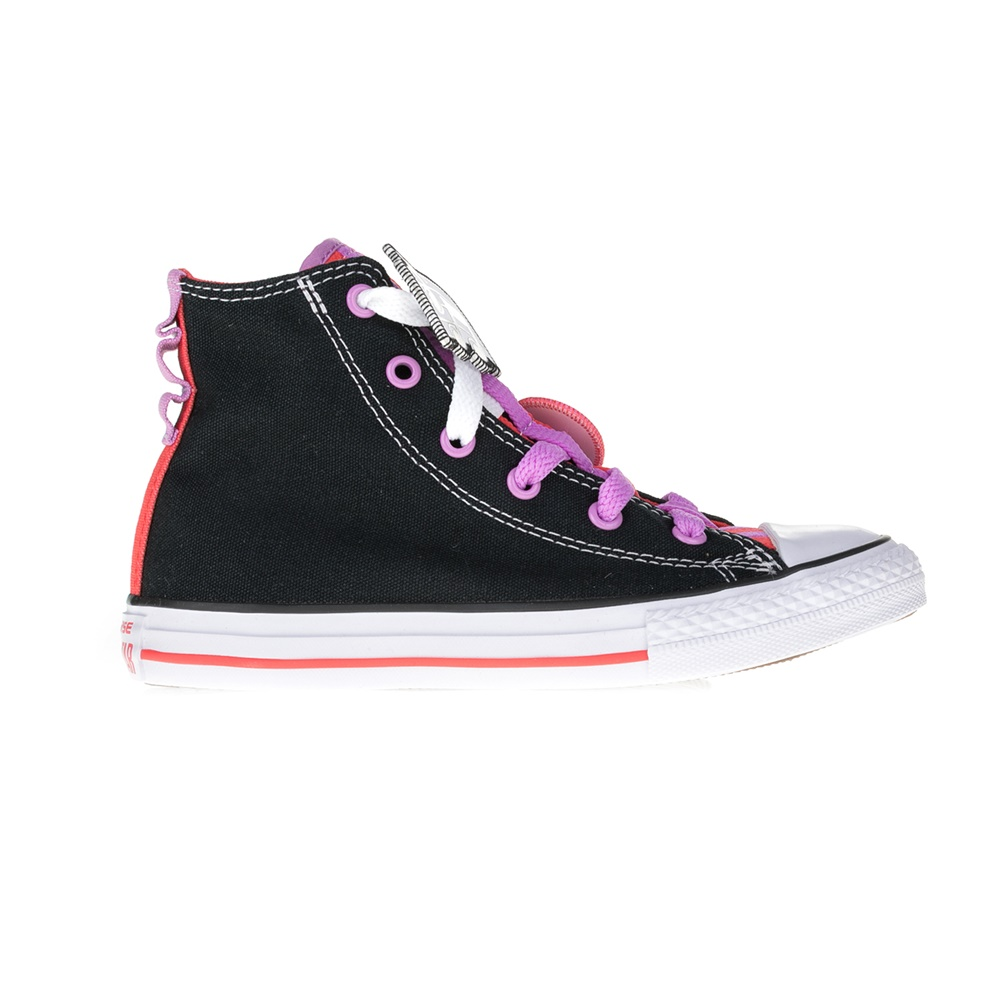 CONVERSE – Παιδικά μποτάκια Chuck Taylor All Star Loophole μαύρα-ροζ