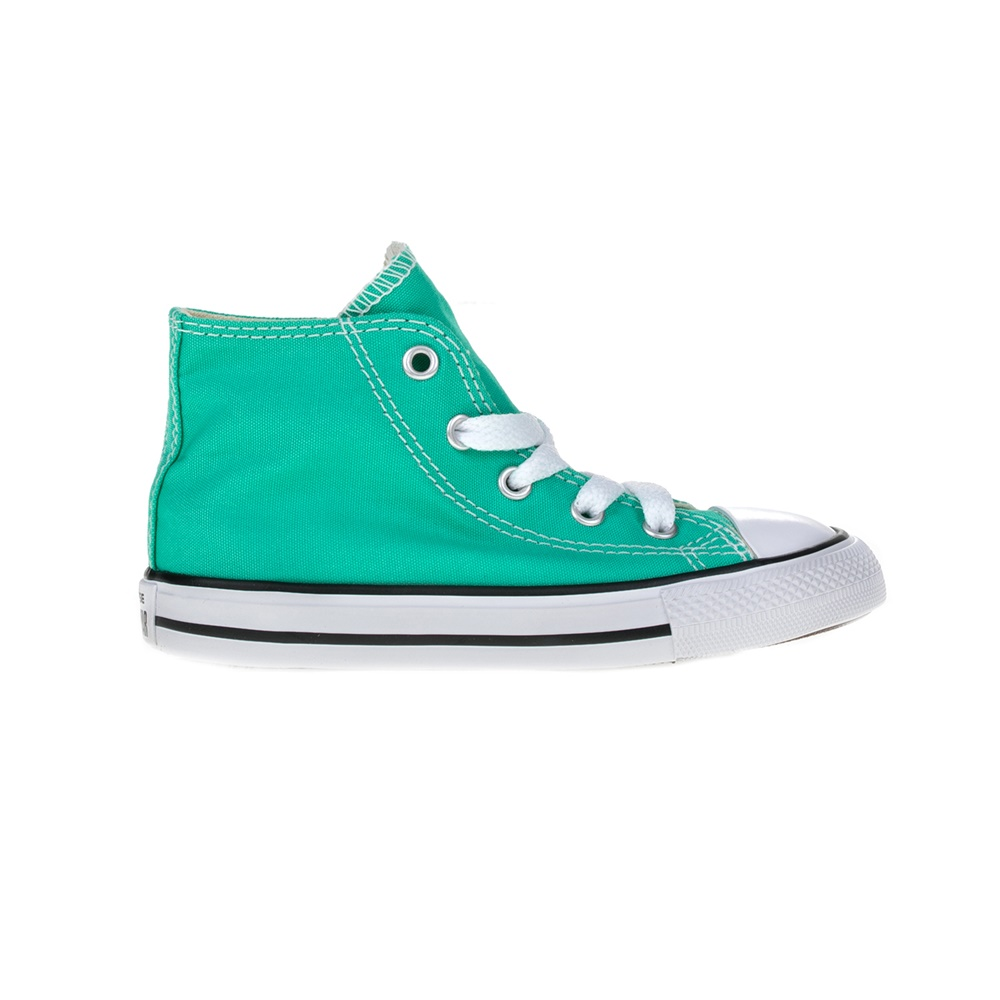 CONVERSE - Βρεφικά μποτάκια Chuck Taylor All Star Hi πράσινα παιδικά baby παπούτσια sneakers