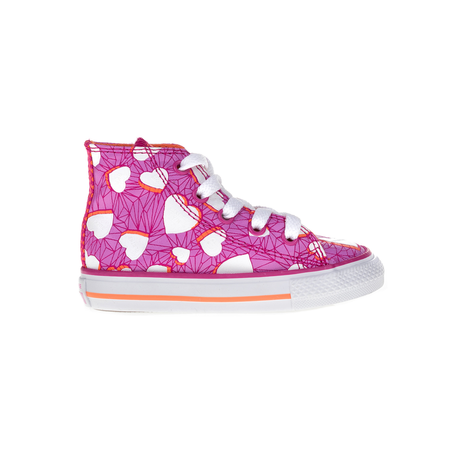 CONVERSE - Βρεφικά μποτάκια Chuck Taylor All Star Hi ροζ παιδικά baby παπούτσια sneakers