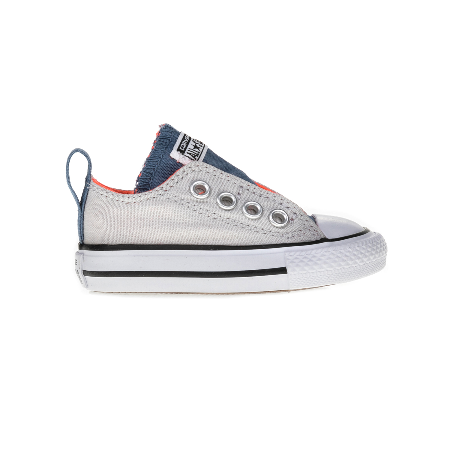CONVERSE - Βρεφικά παπούτσια Chuck Taylor All Star Simple S γκρι-μπλε παιδικά baby παπούτσια sneakers