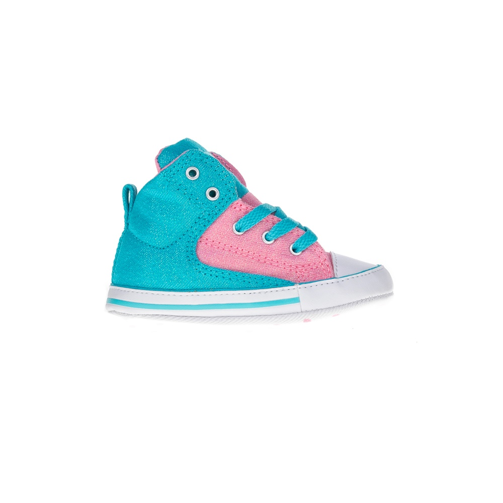 CONVERSE – Βρεφικά μποτάκια Chuck Taylor All Star First St ροζ-μπλε.  Factoryoutlet 15e5aa93c5b