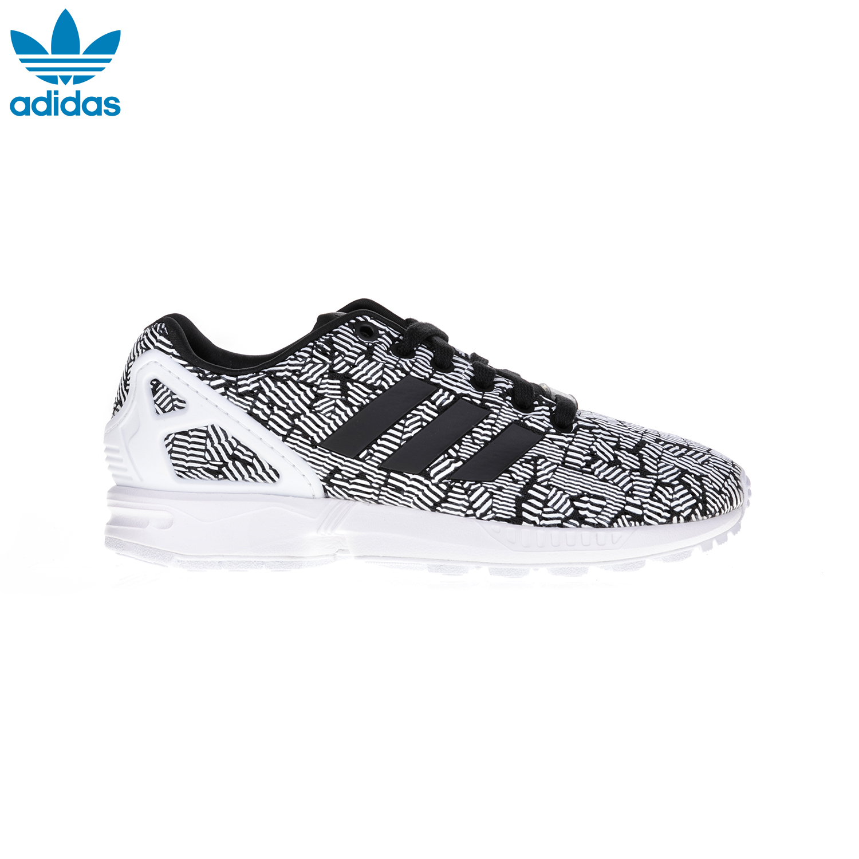 ADIDAS – Γυναικεία παπούτσια ZX FLUX W ADIDAS άσπρα-μαύρα