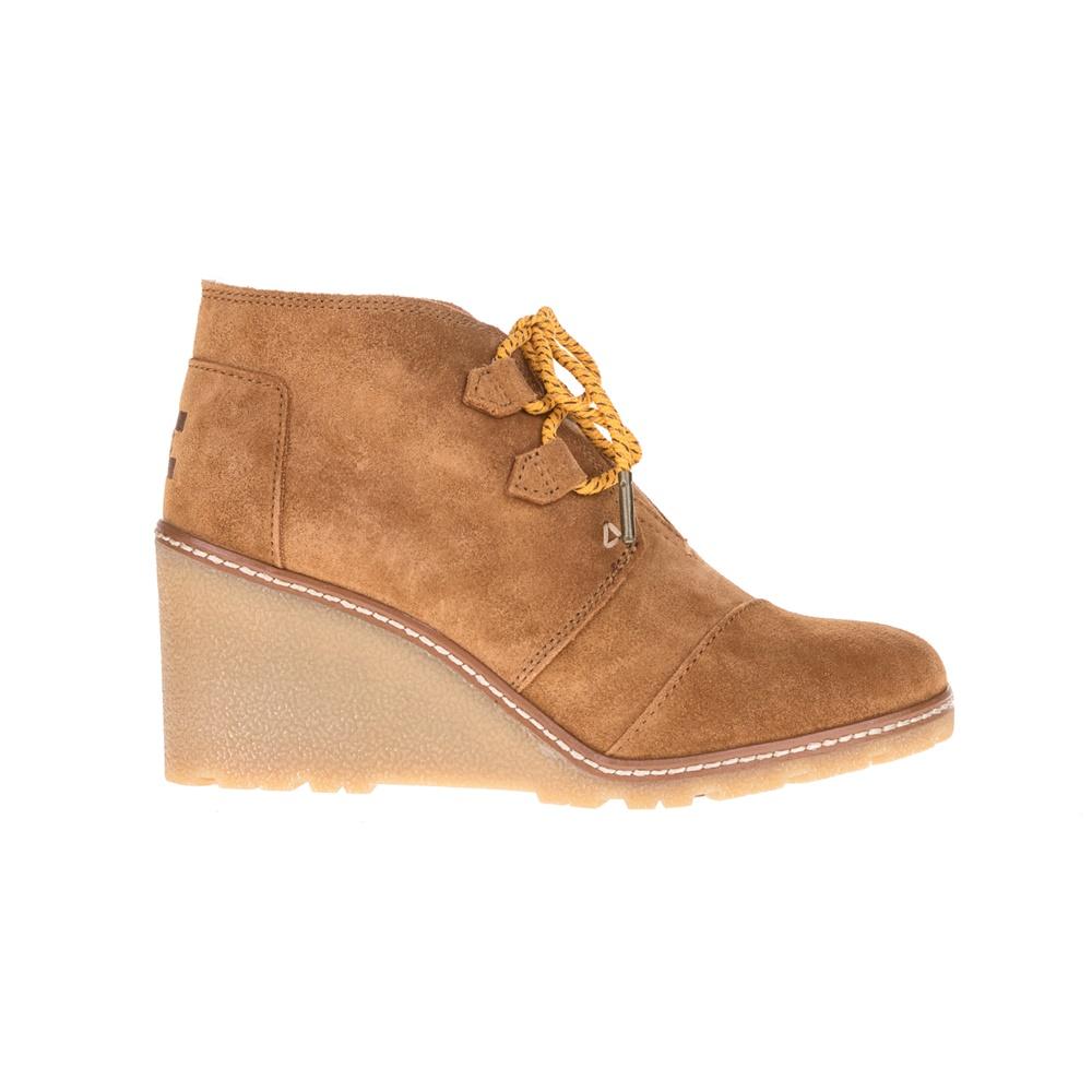 TOMS - Γυναικεία μποτάκια TOMS καφέ γυναικεία παπούτσια μπότες μποτάκια μποτάκια