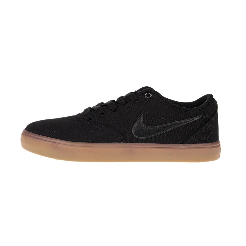 NIKE – Unisex sneakers NIKE SB CHECK SOLAR CNVS μαύρα
