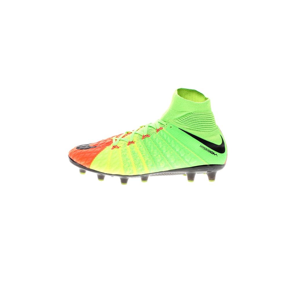 NIKE – Ανδρικά ποδοσφαιρικά παπούτσια NIKE HYPERVENOM PHANTOM 3 DF AGPRO πράσινα πορτοκαλί