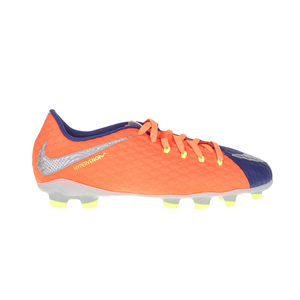 NIKE - Παιδικά παπούτσια ποδοσφαίρου JR HYPERVENOM PHELON III FG μπλε - πορτοκαλ παιδικά boys παπούτσια αθλητικά