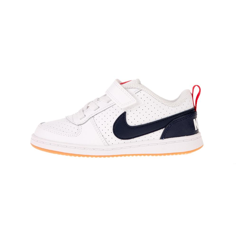 NIKE – Βρεφικά αθλητικά παπούτσια NIKE COURT BOROUGH LOW (TDV) λευκά μπλε