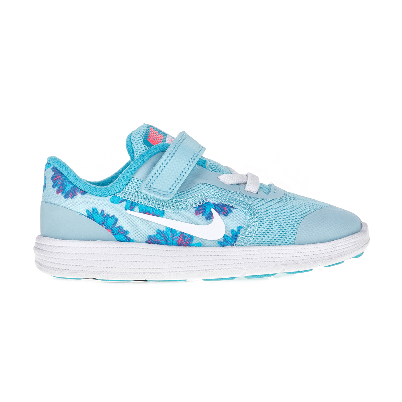 NIKE – Βρεφικά παπούτσια NIKE REVOLUTION 3 PRINT γαλάζια