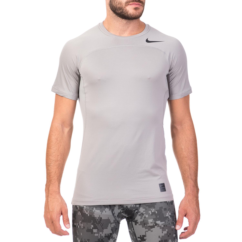 673241c24bb2 NIKE - Ανδρική κοντομάνικη μπλούζα NIKE HYPERCOOL γκρι