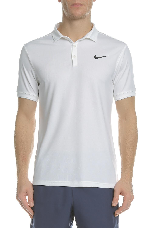 e6ce561ea60 NIKE - Ανδρική πόλο μπλούζα τένις NIKE DRY POLO TEAM λευκή