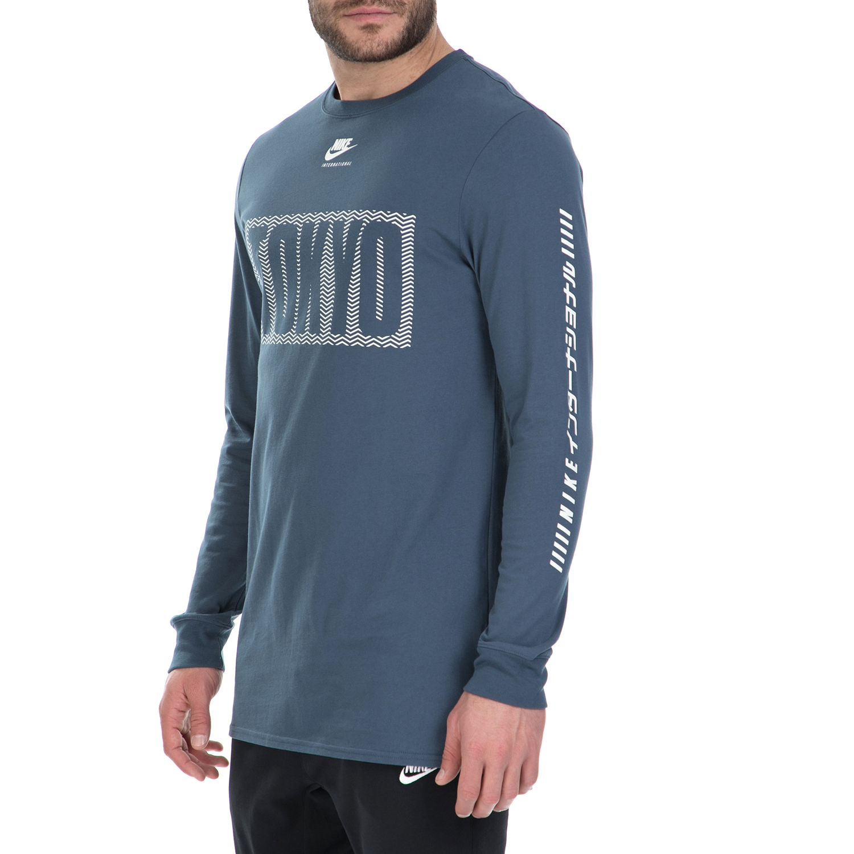 d0daa224f762 NIKE - Μακρυμάνικη μπλούζα Nike μπλε