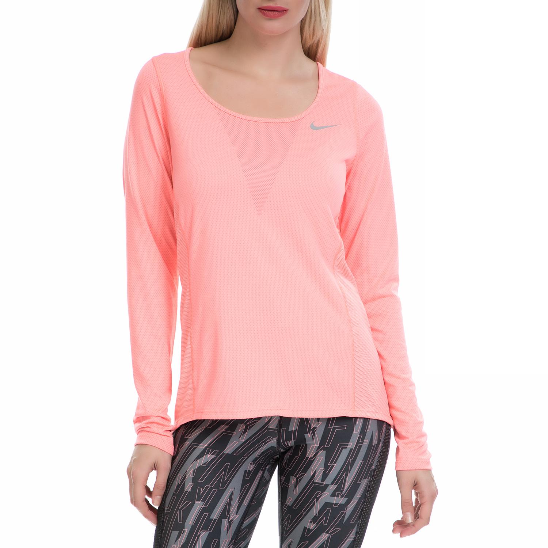 NIKE - Γυναικεία αθλητική μπλούζα NΙKΕ ZNL CL RELAY TOP LS ροζ γυναικεία ρούχα αθλητικά φούτερ μακρυμάνικα