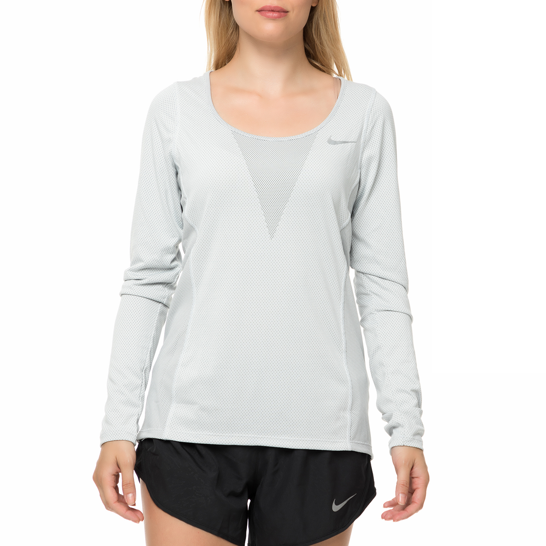 NIKE - Γυναικεία αθλητική μπλούζα NΙKΕ ZNL CL RELAY TOP LS γκρι
