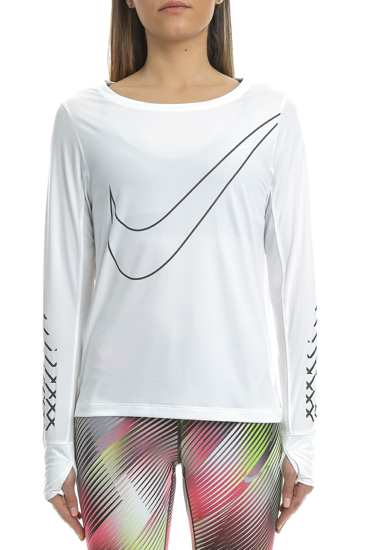 78187121c9 NIKE - Γυναικεία αθλητική μακρυμάνικη μπλούζα Nike BRTHE TOP LS CITY λευκή