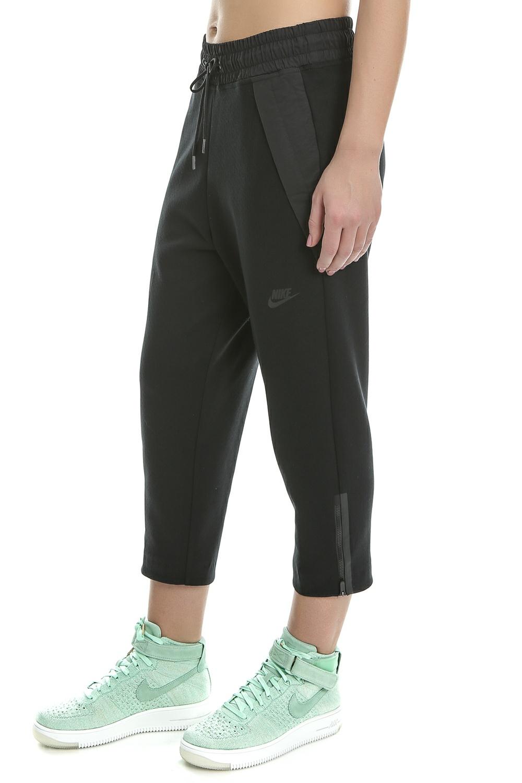 431c48ab68 NIKE - Γυναικείο crop παντελόνι φόρμας Nike TCH FLC μαύρο ...