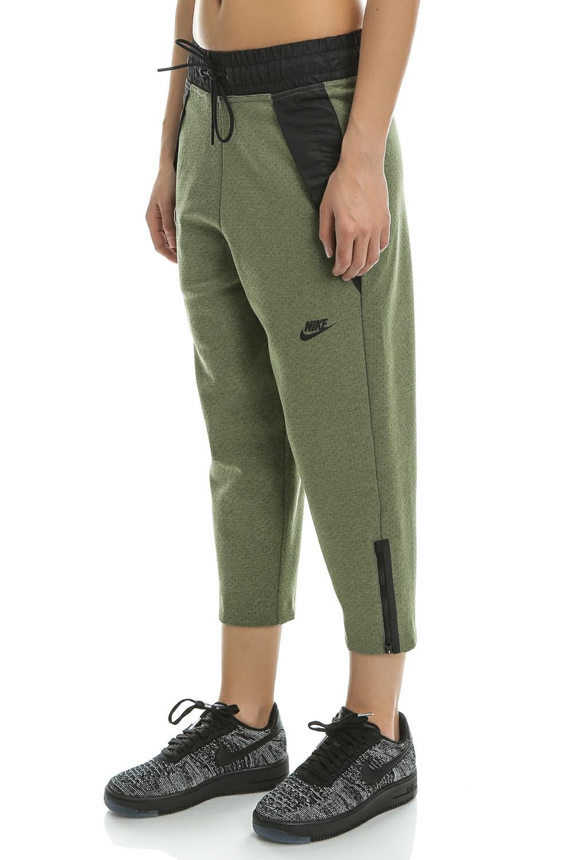 9c3f85274e NIKE - Γυναικείο crop παντελόνι φόρμας Nike TCH FLC χακί