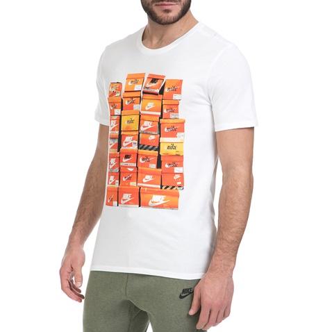 NIKE-Ανδρικό T-shirt ΝΙΚΕ NSW TEE VINTAGE SHOEBOX λευκό