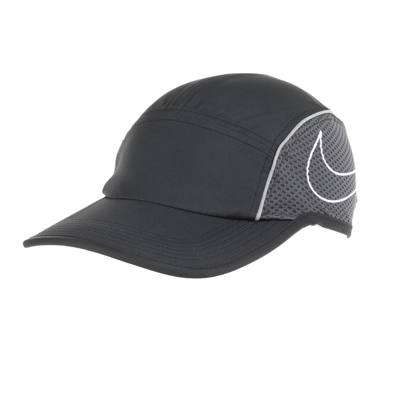NIKE - Γυναικείο jockey καπέλο για τρέξιμο Nike AeroBill μαύρο-γκρι γυναικεία αξεσουάρ καπέλα αθλητικά