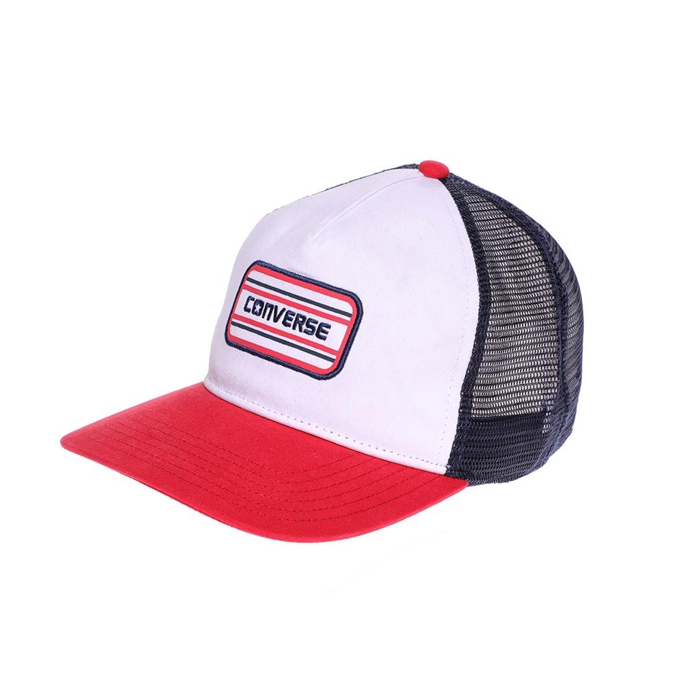 CONVERSE - Καπέλο τζόκεϋ Converse λευκό-κόκκινο ανδρικά αξεσουάρ καπέλα αθλητικά