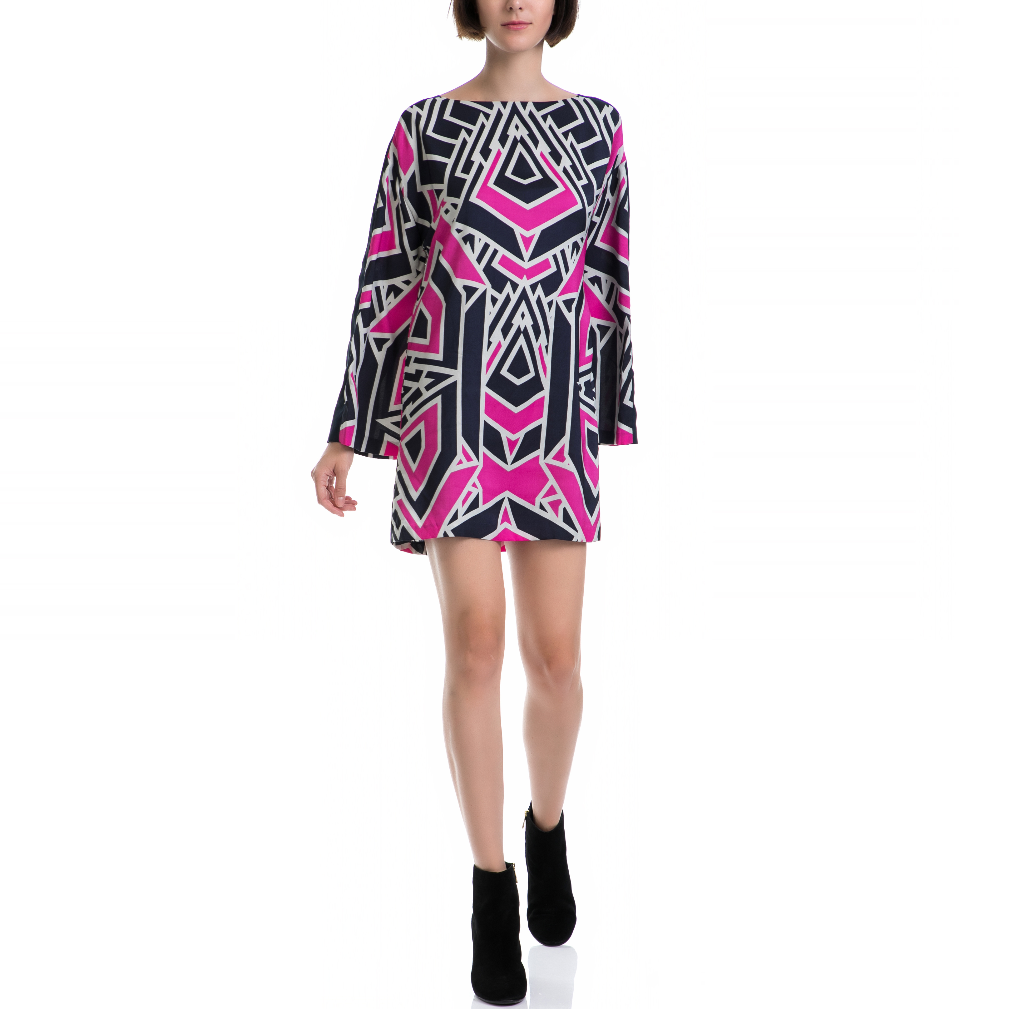 JUICY COUTURE – Γυναικείο φόρεμα JUICY COUTURE μαύρο-ροζ 57294b73718
