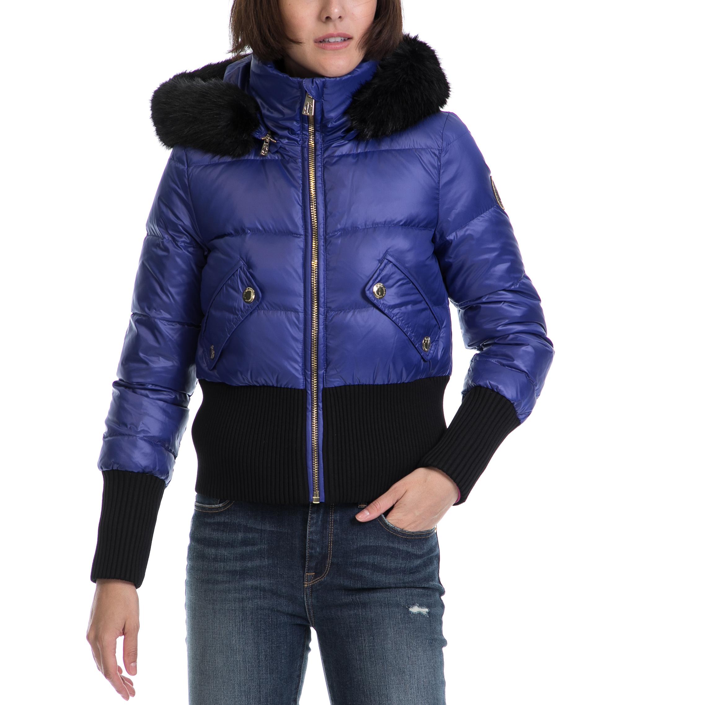 JUICY COUTURE - Γυναικείο μπουφάν JUICY COUTURE μπλε-μαύρο γυναικεία ρούχα πανωφόρια μπουφάν
