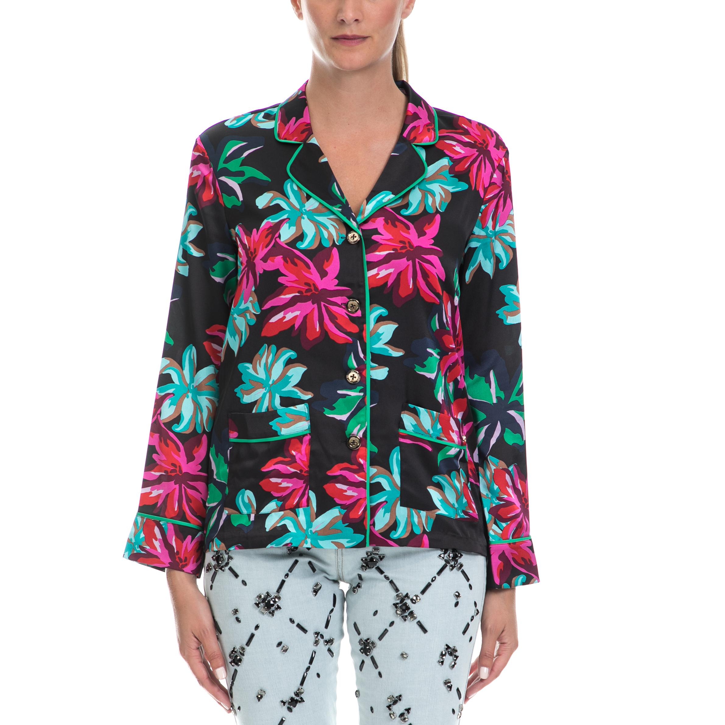 JUICY COUTURE - Γυναικείο σακάκι JUICY COUTURE εμπριμέ γυναικεία ρούχα πανωφόρια σακάκια