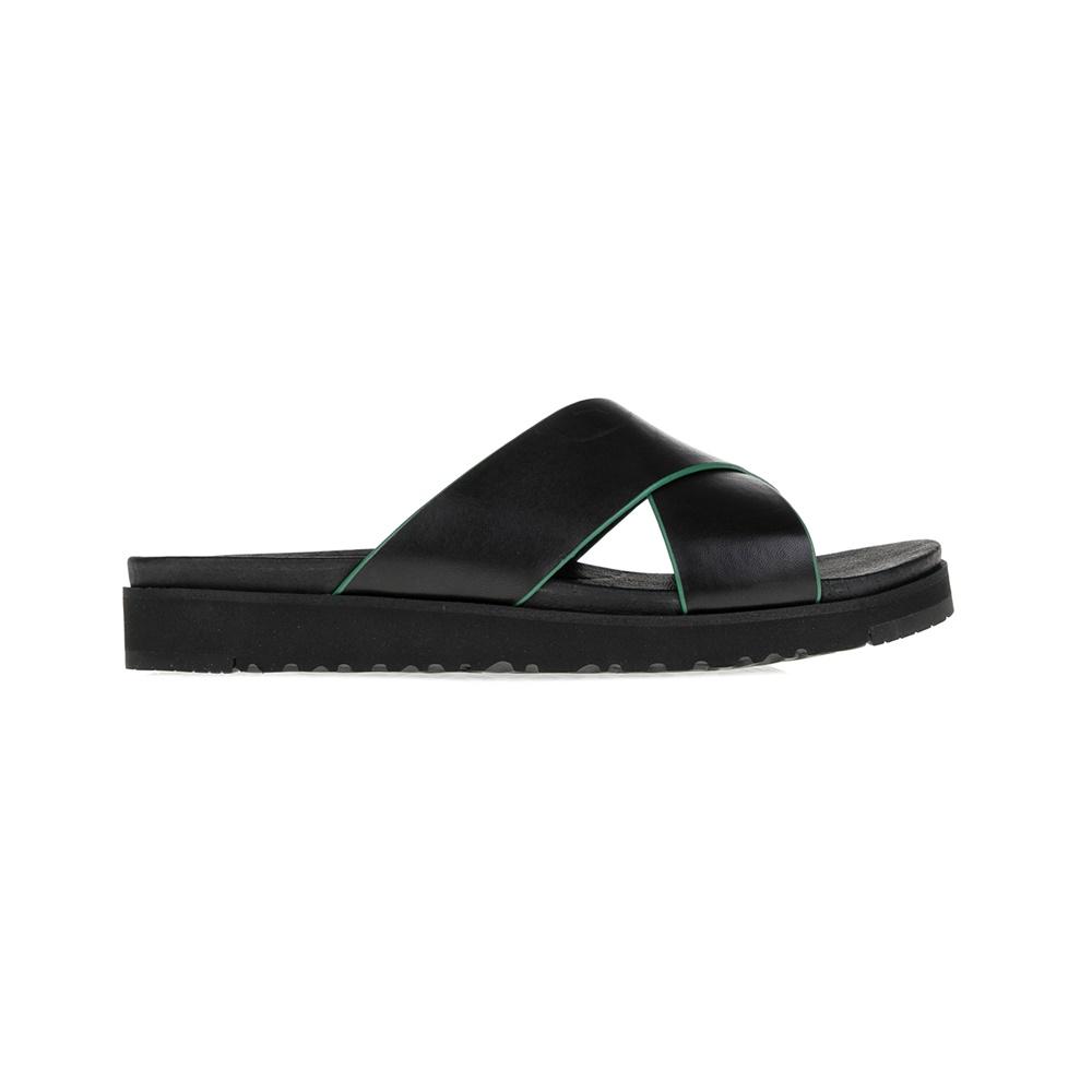 UGG - Γυναικείες σαγιονάρες Kari UGG μαύρες γυναικεία παπούτσια σαγιονάρες slides casual
