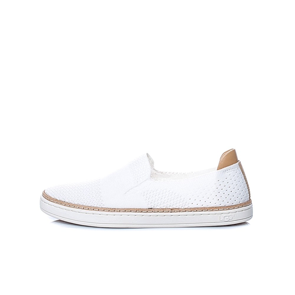 UGG - Γυναικεία slip on SAMMY UGG λευκά γυναικεία παπούτσια μοκασίνια μπαλαρίνες μοκασίνια