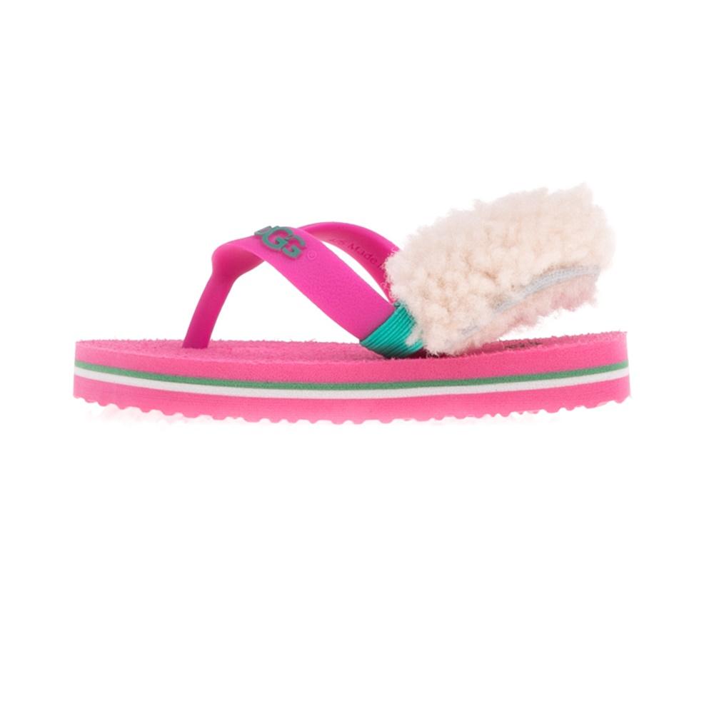 UGG - Βρεφικά πέδιλα UGG Yia Yia II Neon ροζ παιδικά baby παπούτσια πέδιλα σανδάλια