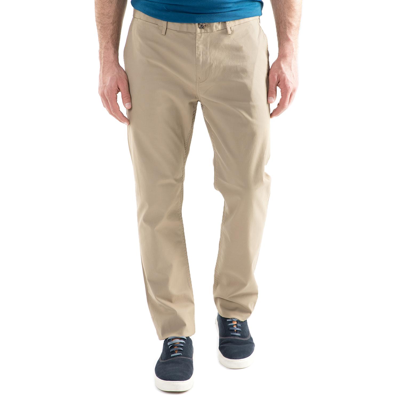 BEN SHERMAN - Ανδρικό chino παντελόνι Ben Sherman SLIM STRETCH CHINO μπεζ ανδρικά ρούχα παντελόνια chinos