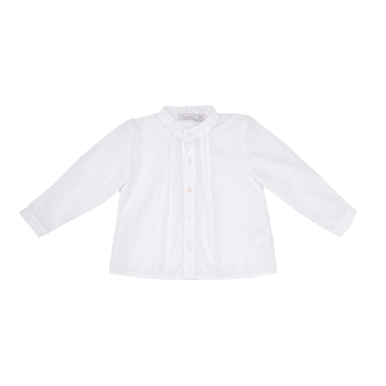 PATACHOU - Παιδικό πουκάμισο PATACHOU άσπρο παιδικά boys ρούχα πουκάμισα