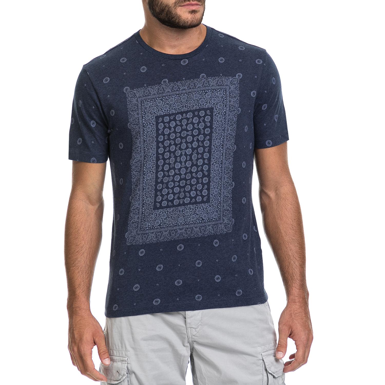 BEN SHERMAN - Ανδρική μπλούζα BANDANA PRINT BE SHERMAN μπλε ανδρικά ρούχα μπλούζες κοντομάνικες