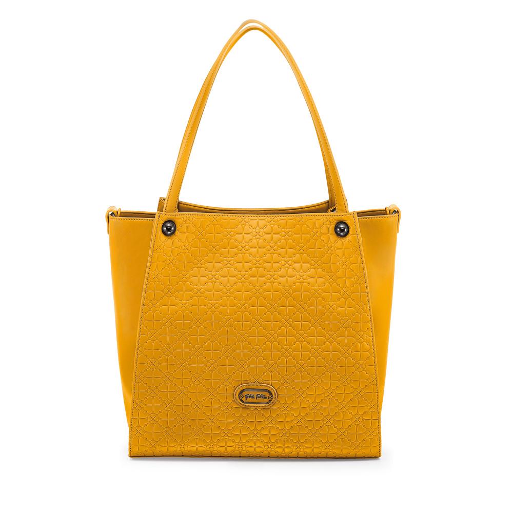 FOLLI FOLLIE - Γυναικεία μεγάλη τσάντα ώμου Folli Follie πορτοκαλί γυναικεία αξεσουάρ τσάντες σακίδια ωμου