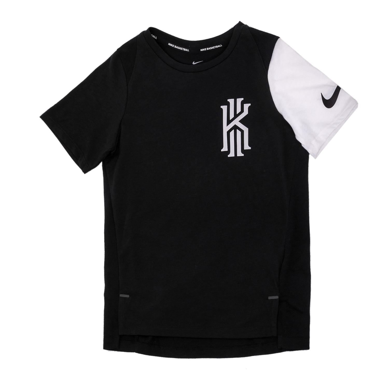 5b1bc3eb645 NIKE – Αγορίστικη κοντομάνικη μπλούζα Nike μαύρη-λευκή