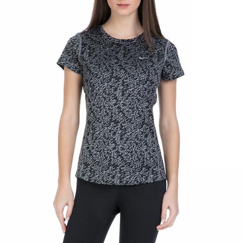 Γυναικεία κοντομάνικη αθλητική μπλούζα Nike γκρι - μαύρη (1520247.1-0082)  14cbabf9209