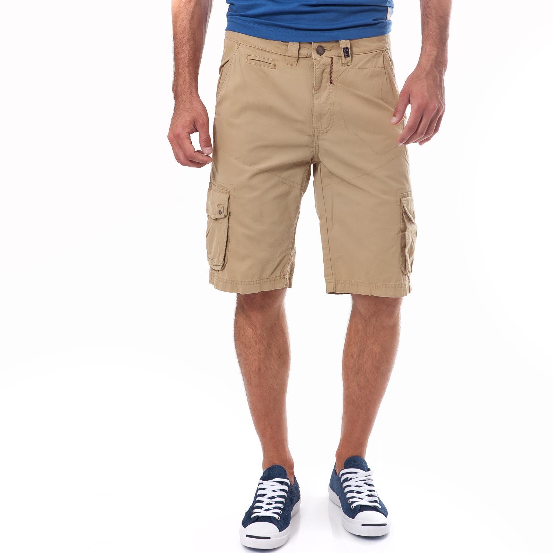 BATTERY - Ανδρική βερμούδα Battery μπεζ ανδρικά ρούχα σορτς βερμούδες casual jean