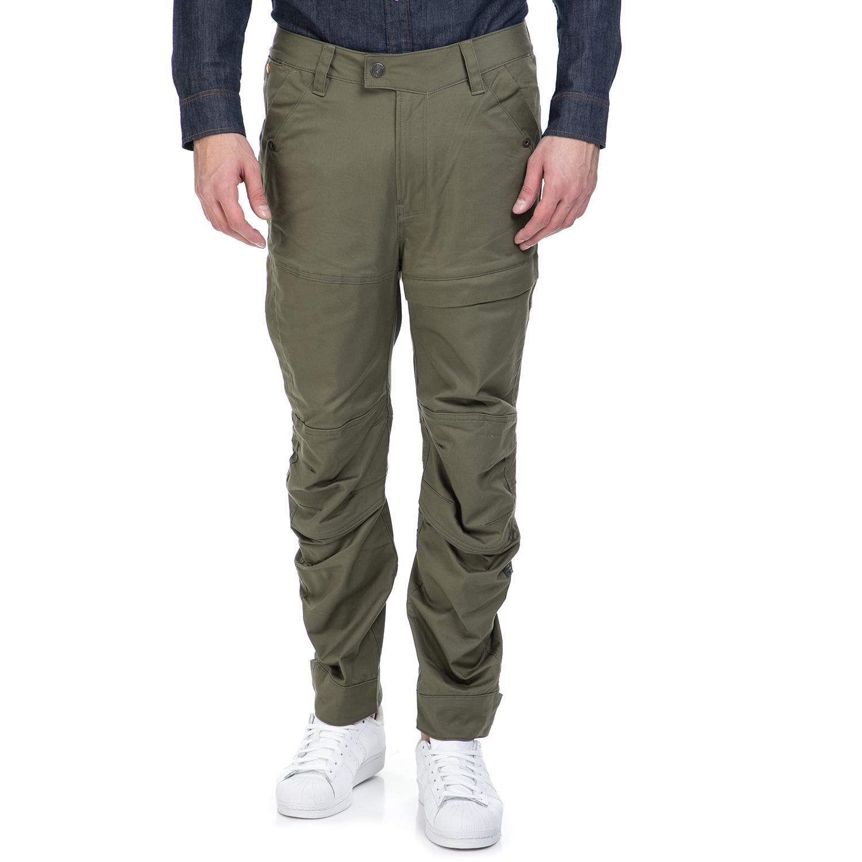 G-STAR RAW - Ανδρικό παντελόνι G-Star Raw Rackam cargo tapered χακί ανδρικά ρούχα παντελόνια cargo