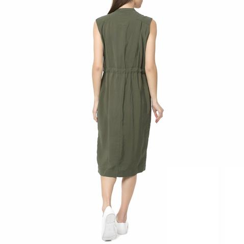 b9bd7b3882ed Γυναικείο αμάνικο midi φόρεμα Powel G-STAR RAW πράσινο σκούρο ...