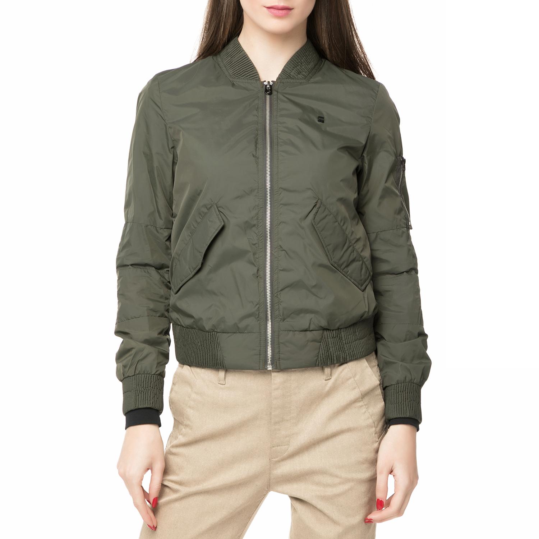 G-STAR RAW – Γυναικείο jacket Rackam MS slim bomber χακί ab1c89efbba
