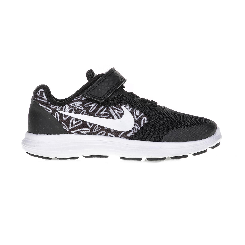 NIKE – Παιδικά αθλητικά παπούτσια NIKE REVOLUTION 3 PRINT (PSV) μαύρα