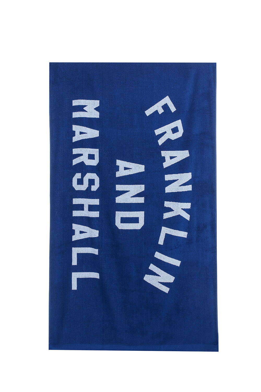 FRANKLIN & MARSHALL - Πετσέτα θαλάσσης Franklin & Marshall μπλε γυναικεία αξεσουάρ εξοπλισμός παραλίας πετσέτες