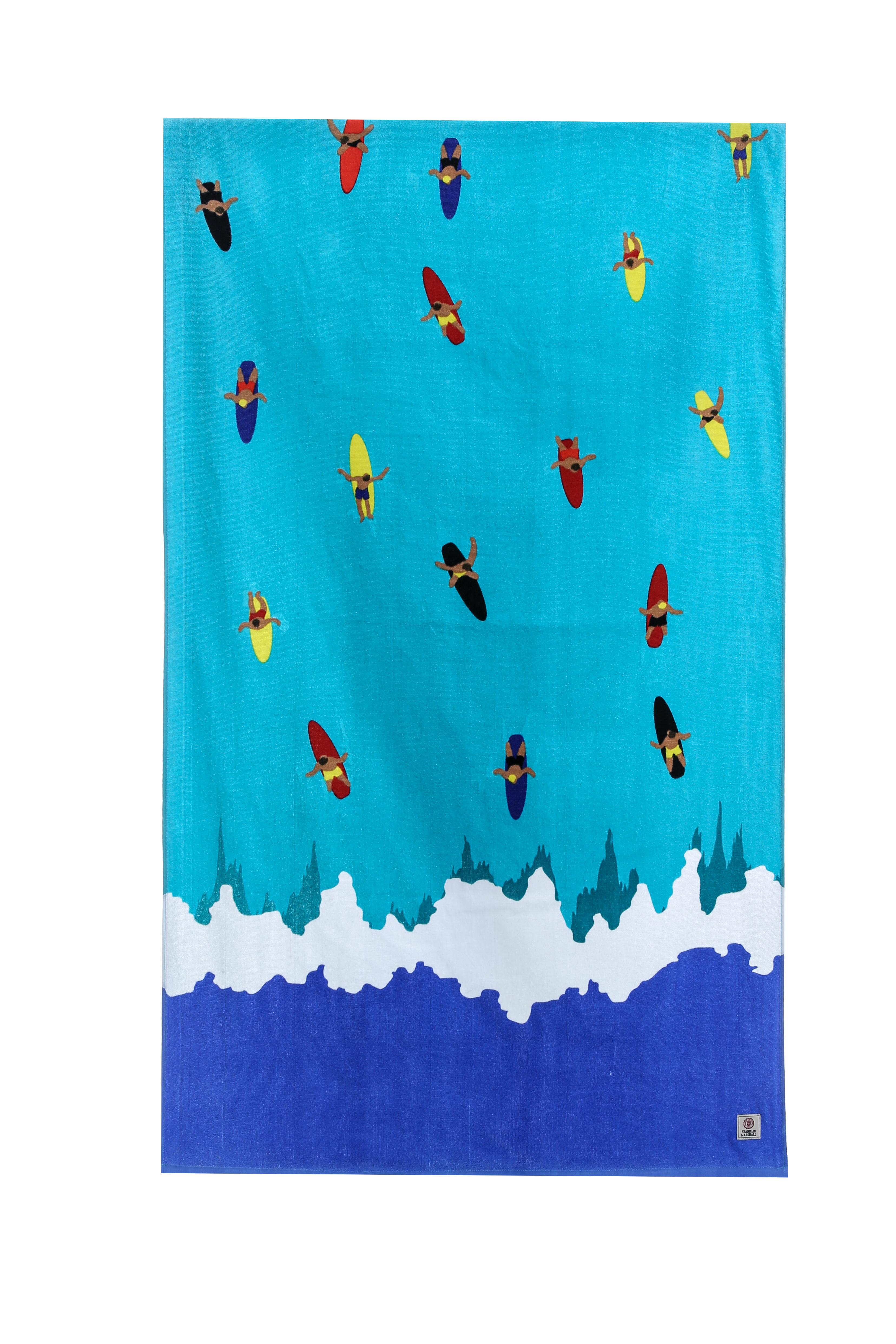 FRANKLIN & MARSHALL – Πετσέτα θαλάσσης Franklin & Marshall μπλε